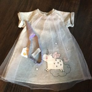 Unicorn dress with unicorn headband